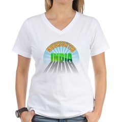Maharashtra India Women's V-Neck T-Shirt