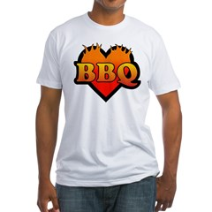 BBQ Love Fitted T-Shirt