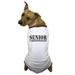 Senior Carryonologist Dog T-Shirt