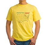 States I've Been To Yellow T-Shirt