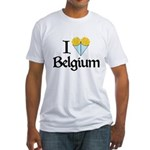I Love Belgium (Fries) Fitted T-Shirt