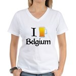 I Love Belgium (Beer) Women's V-Neck T-Shirt