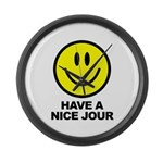 Have a Nice Jour Large Wall Clock