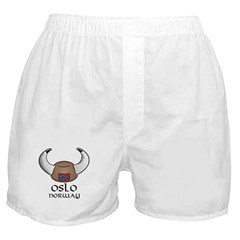 Oslo Norway Viking Hat (color) Boxer Shorts
