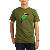Rainbow Bee-eater Organic Men's T-Shirt (dark)