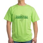 Everyone Loves A Jersey Girl Green T-Shirt