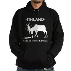 Hoodie (dark) Land of moose and booze from the Metal From Finland Shop
