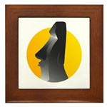 Easter Island Statue Framed Tile
