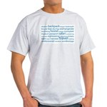 Travel Tag Cloud Light T-Shirt