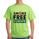 Smoke Free Europe Green T-Shirt