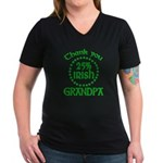 25% Irish - Grandpa Women's V-Neck Dark T-Shirt