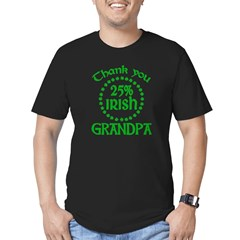 25% Irish - Thank You Grandpa Men's Fitted T-Shirt (dark)