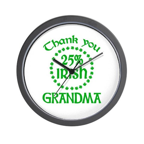 25% Irish - Grandma Wall Clock