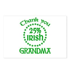25% Irish - Thank You Grandma Postcards (Package of 8)