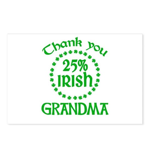 25% Irish - Grandma Postcards (Package of 8)