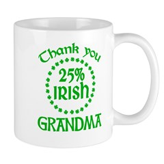 25% Irish - Thank You Grandma Mug