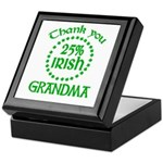 25% Irish - Thank You Grandma Keepsake Box