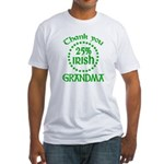 25% Irish - Thank You Grandma Fitted T-Shirt