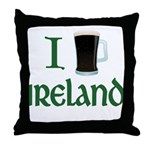 I Love Ireland (beer) Throw Pillow