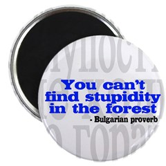 You Can't Find Stupidity in the Forest Magnet
