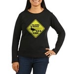 Talking Ducks Crossing Women's Long Sleeve Dark T-Shirt