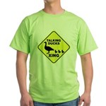 Talking Ducks Crossing Green T-Shirt