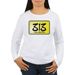 313 License Plate Women's Long Sleeve T-Shirt