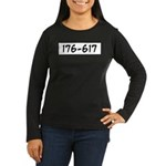 176-617 Women's Long Sleeve Dark T-Shirt