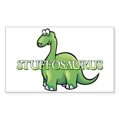 Stuffosaurus Logo Sticker (Rectangle)