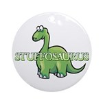 Stuffosaurus Logo Ornament (Round)