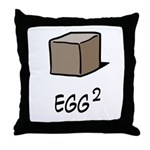 Square Egg Throw Pillow