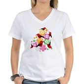  Hawaiian-style 'I'iwi Women's V-Neck T-Shirt