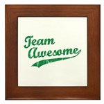 Team Awesome Framed Tile