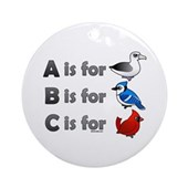 B is for Birdorable Ornament (Round)