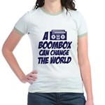 A Boombox Can Change the World Jr. Ringer T-Shirt