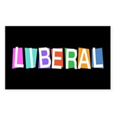 Colorful Retro Liberal Rectangle Sticker