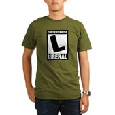 Content Rated Liberal Organic Men's T-Shirt (dark)