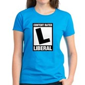 Content Rated Liberal Women's Dark T-Shirt