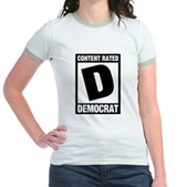 Content Rated Democrat Jr. Ringer T-Shirt