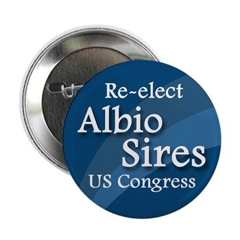 Re-Elect Albio Sires to Congress (Pro-Sires campaign button)