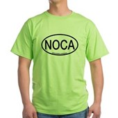 NOCA Northern Cardinal Alpha Code Green T-Shirt