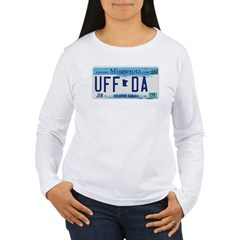 Uffda License Plate Shop Women's Long Sleeve T-Shirt