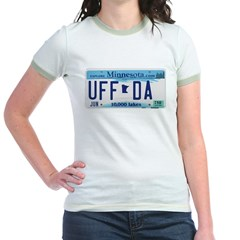 Uffda License Plate Shop Jr. Ringer T-Shirt