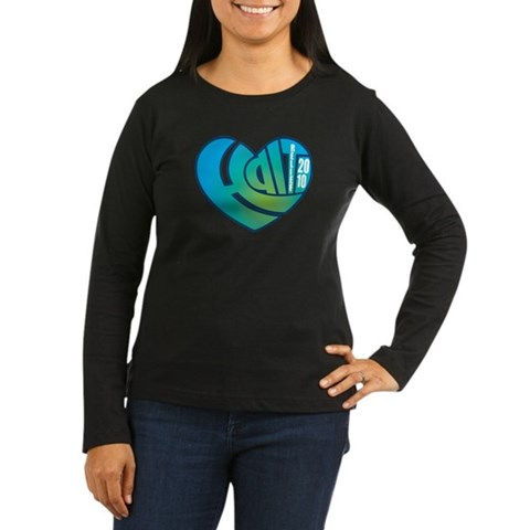 Haiti Heart Women's Long Sleeve Dark T-Shirt