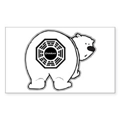 LOST: Dharma Initiative Polar Bear Sticker (Rectangle)