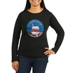 I Survived SNOMG 2010 Women's Long Sleeve Dark T-Shirt