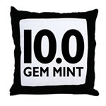 10.0 Gem Mint Throw Pillow