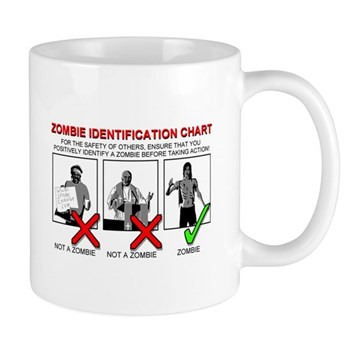 Zombie Killing Identification Chart - on a mug