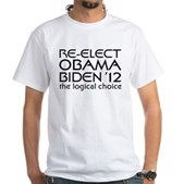 Logical Obama 2012 White T-Shirt