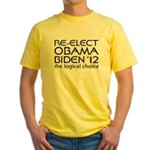 Logical Obama 2012 Yellow T-Shirt